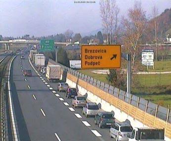 Nov izvoz iz avtoceste Brezovica pri Ljubljani